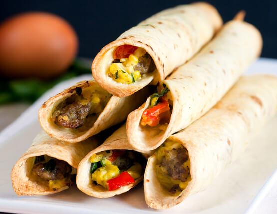 Baked Breakfast Taquitos Recipe