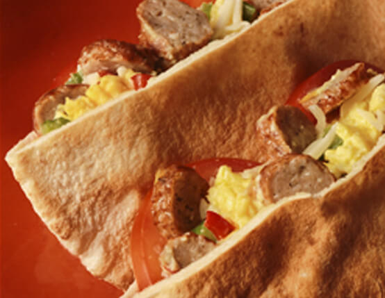 Breakfast Pitas Recipe