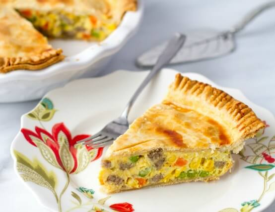 Breakfast Sausage Pot Pie Recipe