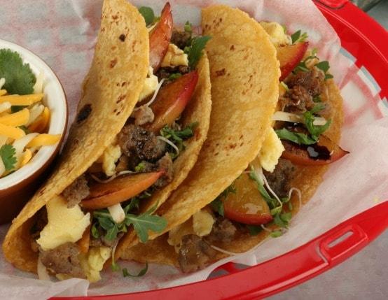 Breakfast Sausage Street Tacos