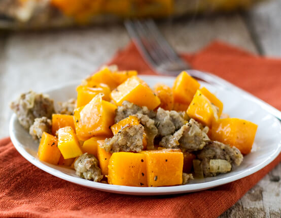 Butternut Squash and Sausage Bake Recipe