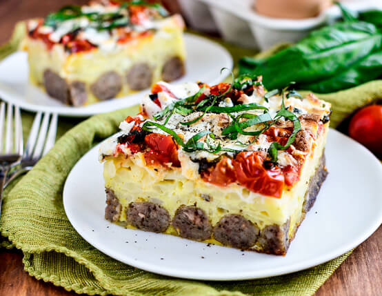 Caprese Sausage Breakfast Bake Recipe