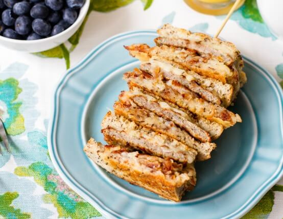 Chicken Sausage and Hash Brown Breakfast Grilled Cheese Recipe