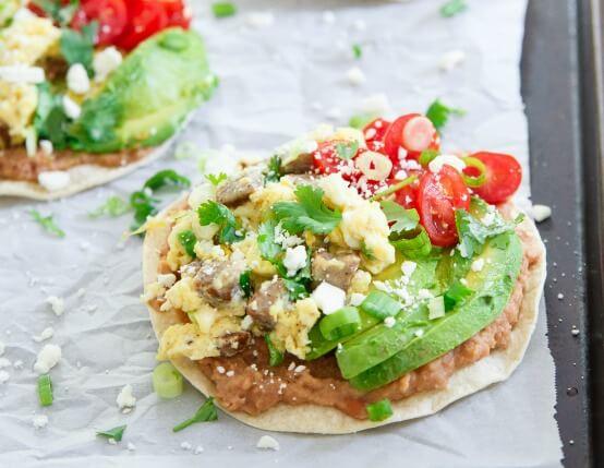 Chicken Sausage Breakfast Tostadas Recipe