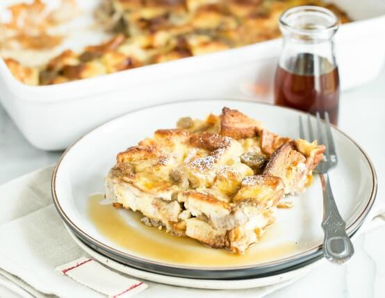 Cinnamon French Toast Bake with Sliced Sausage Recipe