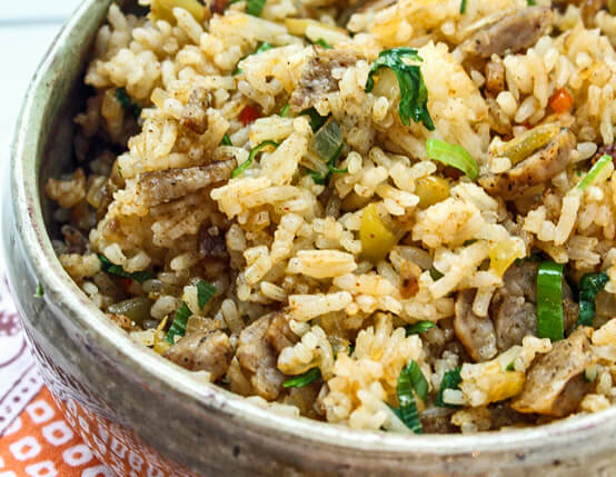 Dirty Rice with Maple Sausage Links Recipe