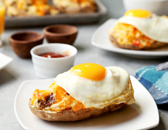 Double Stuffed Breakfast Potatoes Recipe
