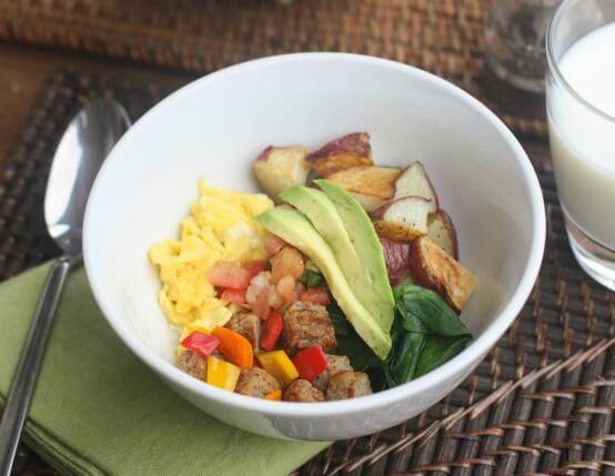 Egg and Sausage Brinner Bowls Recipe