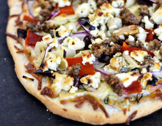 Greek Sausage Pizza Recipe