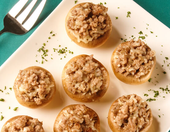 Grilled Stuffed Mushrooms with Sausage & Cheese Recipe