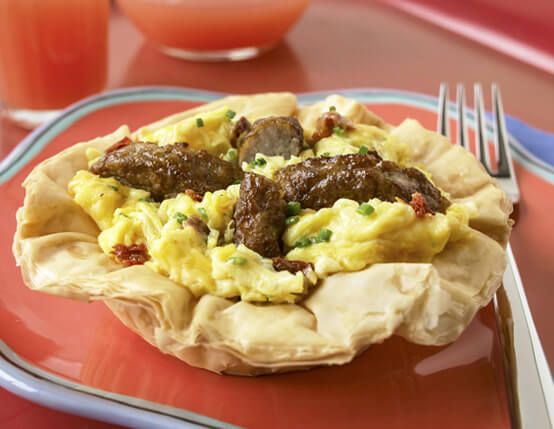 Herbed Egg & Sausage Tartlets Recipe