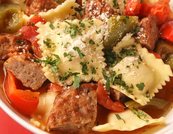 Italian Ravioli & Sausage Stew Recipe