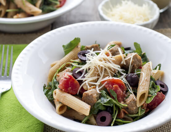 Pasta Salad with Sausage, Arugula and Olives Recipe