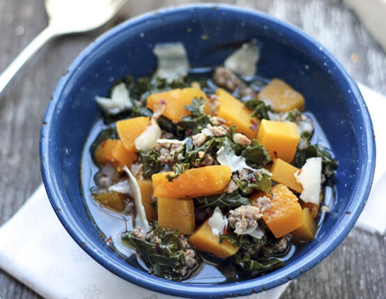 Pumpkin, Kale and Sausage Soup Recipe