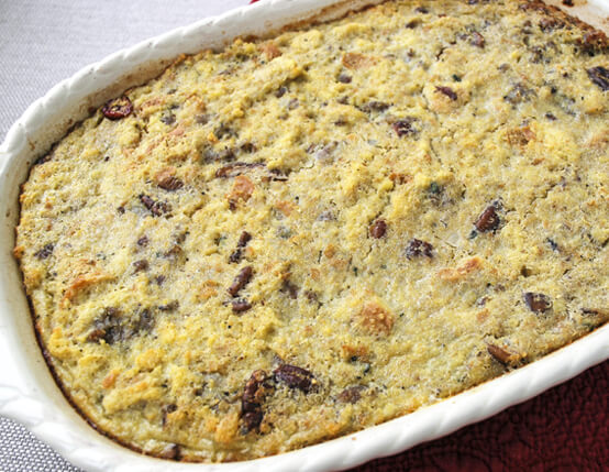 Quinoa, Jones Sausage and Cranberry Cornbread Dressing Recipe