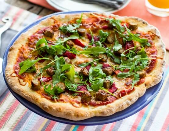 Roasted Red Pepper anD Chicken Sausage Pizza Recipe
