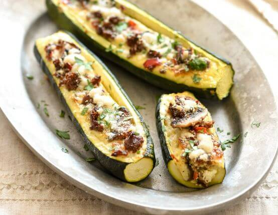 Sausage and Egg Baked Zucchini Boats