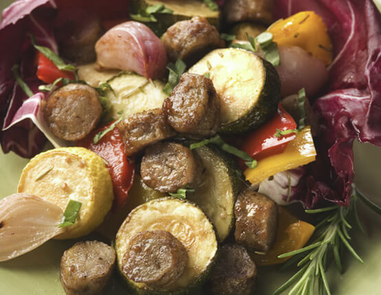 Sausage & Roasted Vegetable Salad Recipe