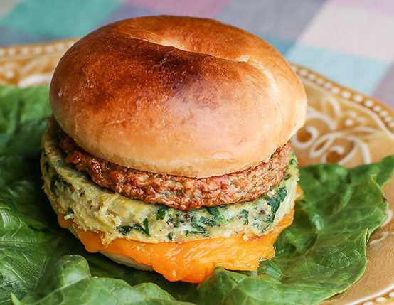 Sausage and Veggie Omelet Sandwich web
