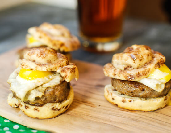 Sausage Cinnamon Roll Sliders Recipe