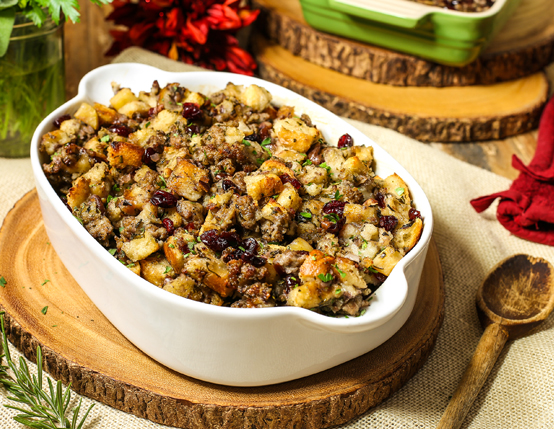 Jones Sausage, Cranberry and Apple Stuffing Recipe