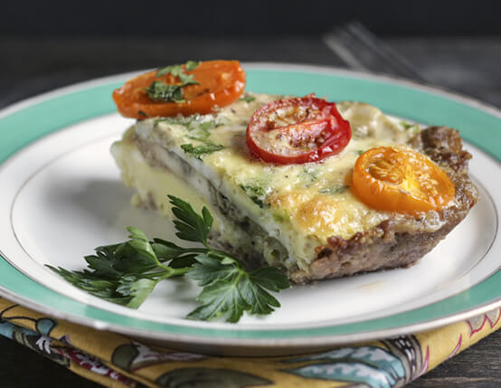 Sausage Crusted Quiche Recipe