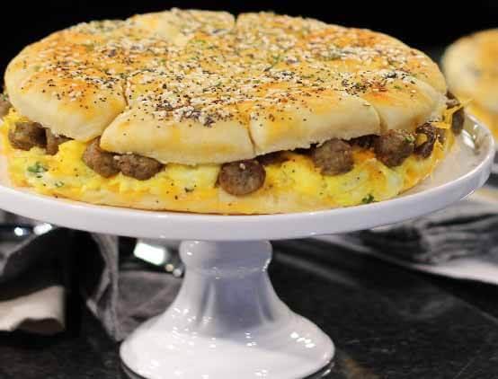 Sausage, Egg & Cheese Pull Apart Breakfast Rolls web