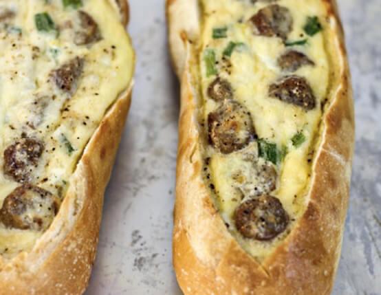 Sausage Egg Boats Recipe