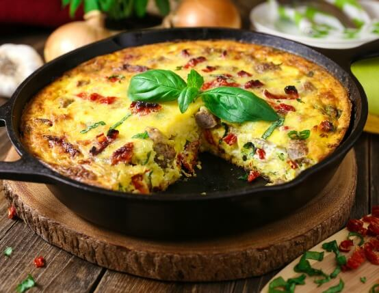 Sun-Dried Tomato and Ricotta Frittata Recipe