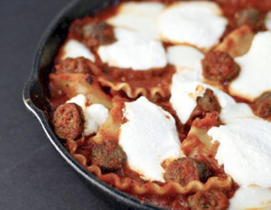 Skillet Beef Lasagna Recipe