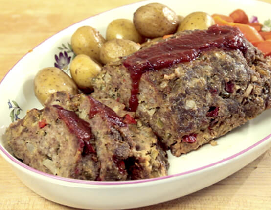 Slow Cooker Meatloaf with Roasted Potatoes Recipe