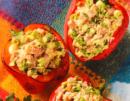 Southwestern Sausage, Egg and Cheese Stuffed Peppers Recipe