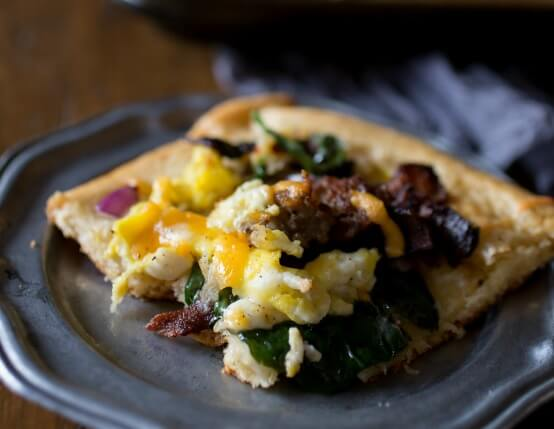 Spicy Breakfast Pizza with Crescent Roll Crust Image