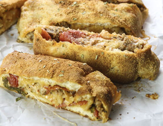 Super Easy Sausage and Pepperoni Stromboli  Recipe