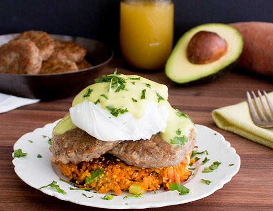 Sweet Potato Benedict with Avocado Hollandaise