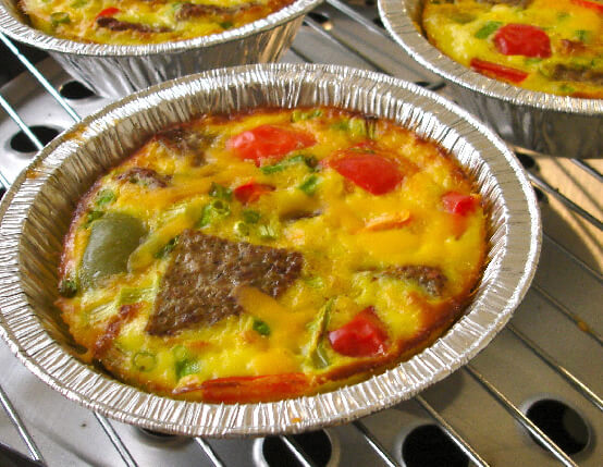 Turkey Sausage Egg Bake in Foil Bowls web