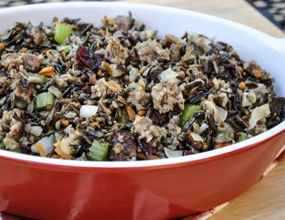 Wild Rice and Water Chestnut Stuffing with Jones Sausage Recipe