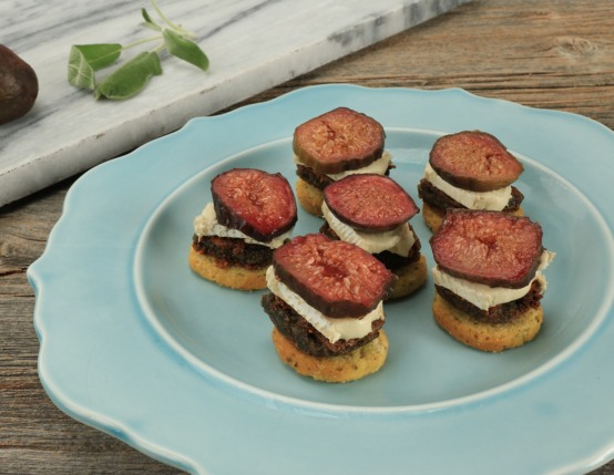 Scrapple Fig Canapes
