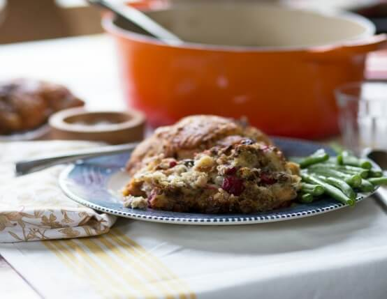 Recipe for Brandy and Cranberry Dressing with Jones Sausage