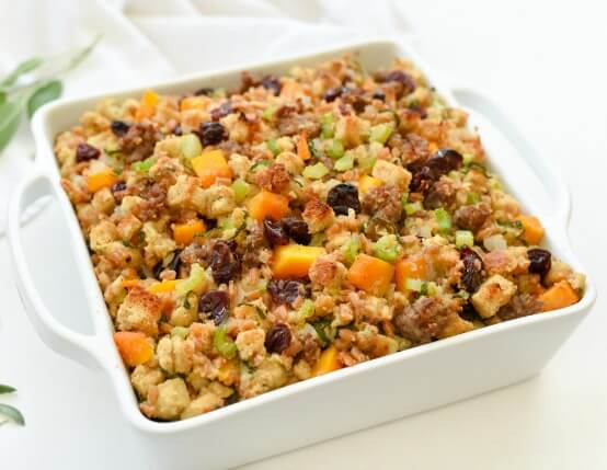 Butternut Squash and Dried Cherries Stuffing