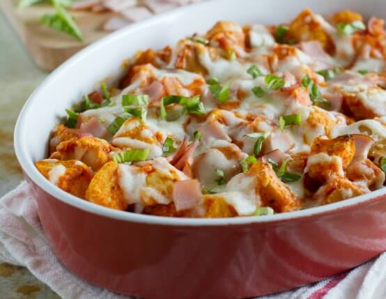 Recipe for Pizza Stuffing with Jones Canadian Bacon