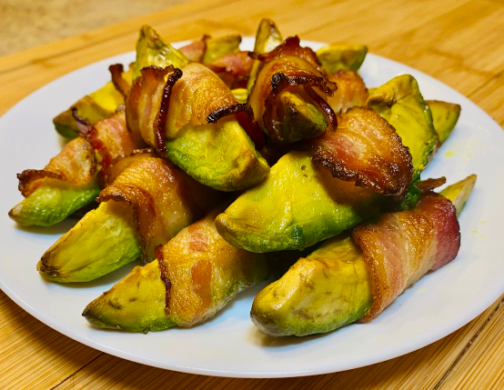 Air Fryer Bacon Wrapped Avocado Fries
