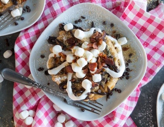 Bacon S'mores Funnel Cake