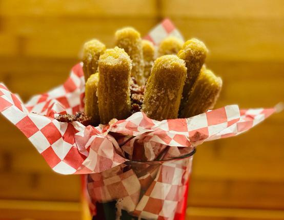 Cinnamon Sugar Bacon Baked Churros
