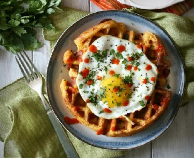 Cheddar-Sausage-Cornmeal-Waffles_3-sm (1)