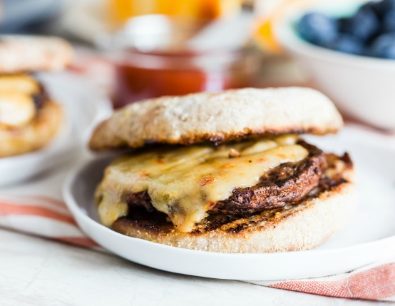 Grilled Sausage & Cheese Breakfast Sandwiches