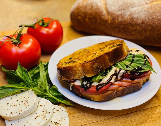 Gourmet Grilled Ham & Caprese Sandwich