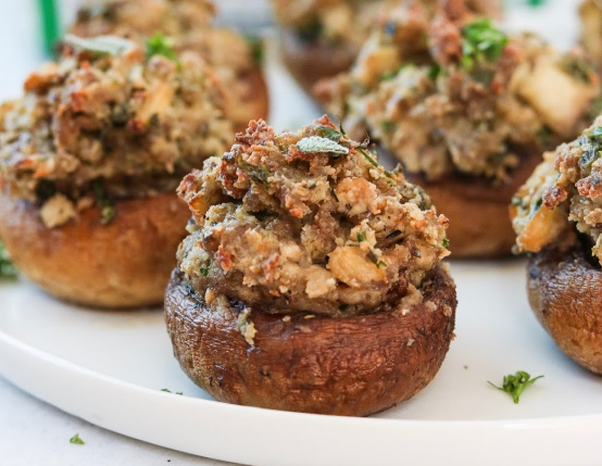 Sausage and Sage Stuffed Mushrooms