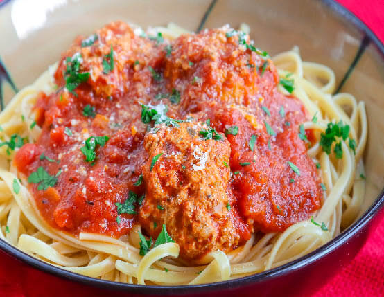 turkey sausage and meatballs web